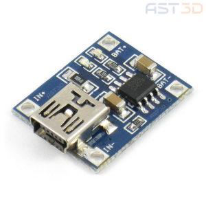 Модуль зяряда Li-Ion аккумуляторов 1А (Mini-USB, Arduino)