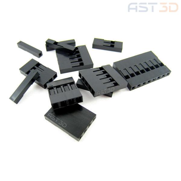 Корпус клеммы 2,54 мм – Многопиновый (5+) однорядный, пластиковый корпус разъема Dupont (1шт)