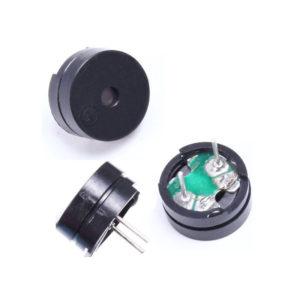 Зуммер звуковой, 12В 12х8,5мм (динамик, сигнал, пищалка)