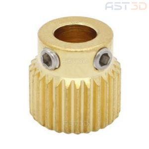 Прижимной ролик 3D принтера шестерня MK8 5мм/11мм (26 зубов, латунь)