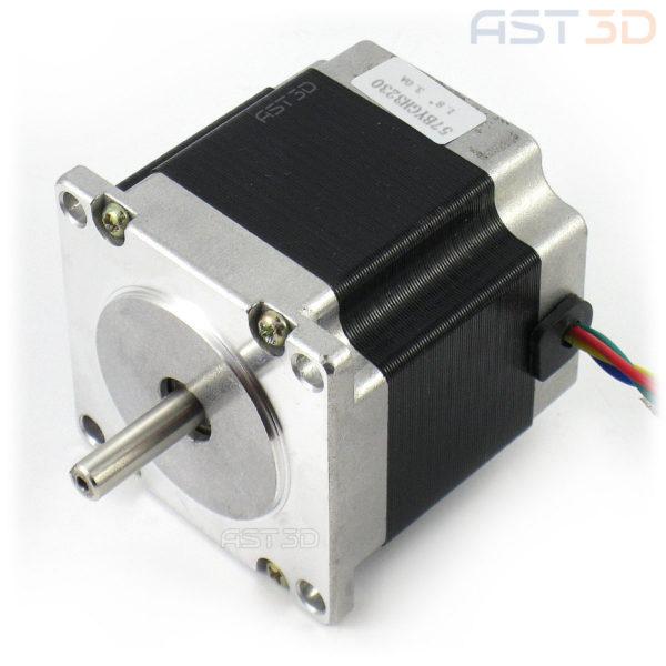 Шаговый двигатель Nema 23 56мм 2,8А 23hs5628 (фланец 57мм, разъем опц.) для ЧПУ, 3D принтера, лазерного гравера