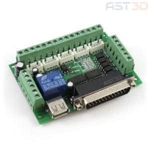 Контроллер ЧПУ 5 осей, плата управления MACH3 LPT (зеленая, синяя, с кабелем)
