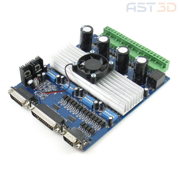 Плата управления ЧПУ с драйверами ШД TB6560 4 оси (синяя) для ЧПУ, 3D принтера, лазерного гравера