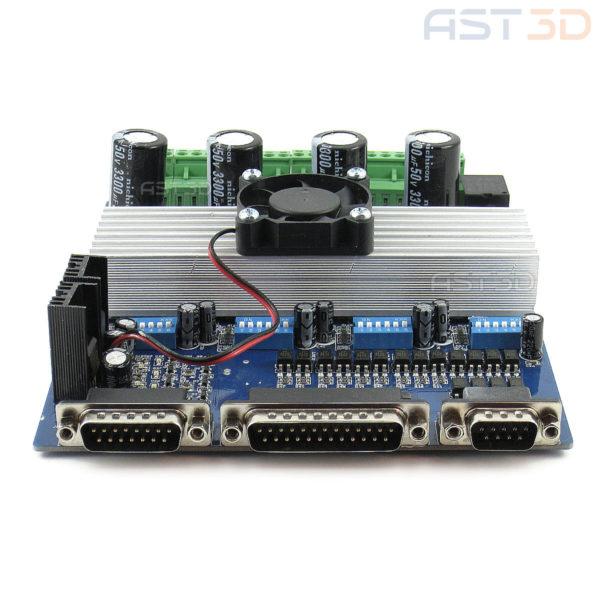 Плата управления ЧПУ с драйверами ШД TB6560 4 оси (синяя)