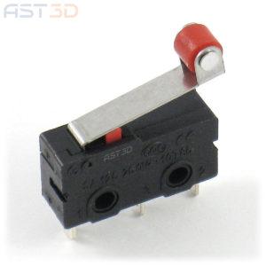 Концевик механический, концевой выключатель с роликом (мини, ЧПУ, 3D принтеры)