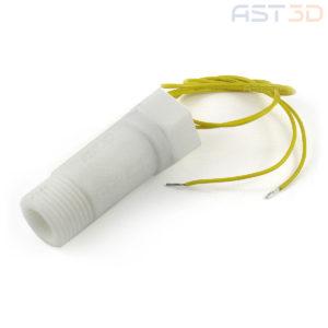 Датчик потока воды 20мм 3А (белый пластик, ЧПУ, лазер)
