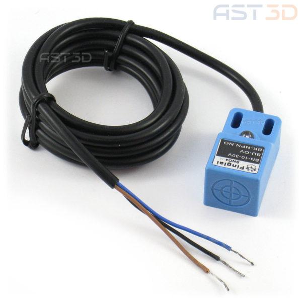 Индуктивный датчик приближения SN04-N 4мм DC 10-30В (синий, NPN NO)