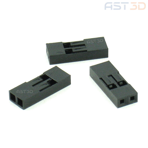 Корпус клеммы 2,54 мм 1/2/3/4 pin, пластиковый корпус разъема Dupont (комплект 10шт)