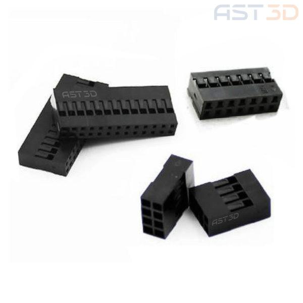 Двухрядный корпус клеммы 2,54 мм, пластиковый корпус разъем (1шт)