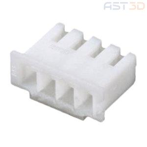 Корпус клеммы XH-4 2,54 – 2/3/4/5/6/8 pin, пластиковый (комплект 10шт, белый)