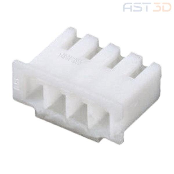 Корпус клеммы XH-4 2,54 – 4 pin, пластиковый (комплект 10шт, белый)