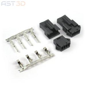 Разъем JST SM 2.54мм – 2/4 pin, соединительный комплект (штекер, гнездо, клеммы)
