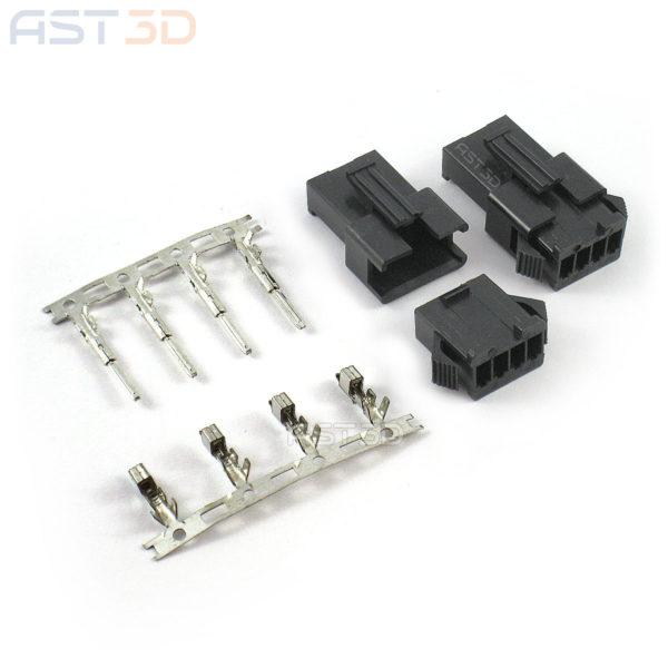 Разъем JST SM 2.54мм - 2/4 pin, соединительный комплект (штекер, гнездо, клеммы)