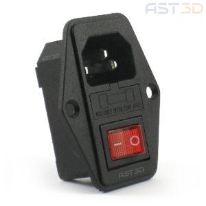 Разъем питания IEC320 C14 3pin-Папа с выключателем (в корпус на винтах iec 320)