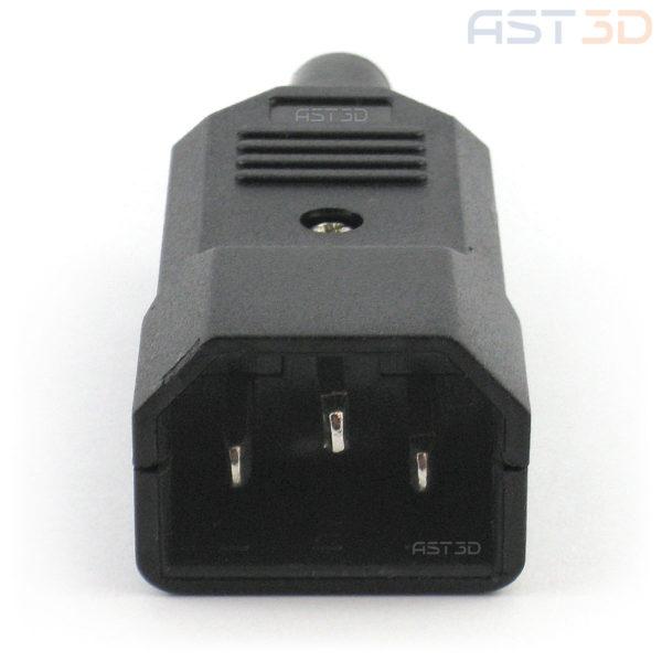 Штекер питания 220В папа IEC320 C14 3pin (на кабель)