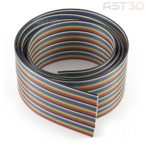 Кабель-лента 40pin (радужный, 1м max)