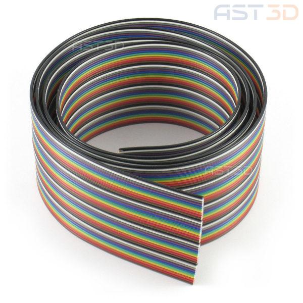 Ленточный кабель, плоский, лента 40pin (радужный, 1м max)