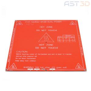 Нагревательный стол HeatBed MK2B 214х214мм 12/24В (красный)