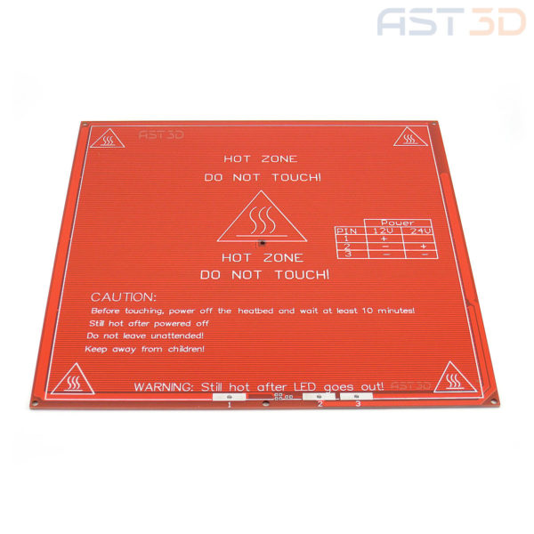 Нагревательный стол 3D принтера MK2B 214*214 мм 12/24 В (HeatBed)