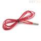 Нагреватель экструдера 3d принтера 6х20мм 12В/24В 40Вт (с кабелем)