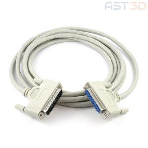 LPT кабель для ЧПУ – DB25 25pin папа-мама (1,5/3/5м, MACH3 контроллер-ПК)