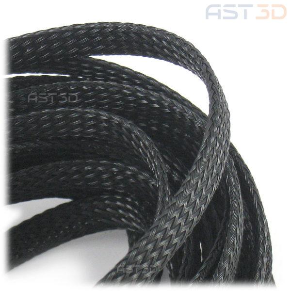 Оплетка кабеля и проводов, нейлоновая (черная)