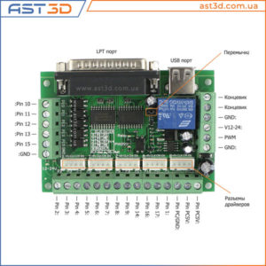 Контроллер ЧПУ 5 осей, описание и подключение