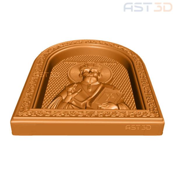 3D Модель для ЧПУ станка Икона Святого Николая купить в Украине