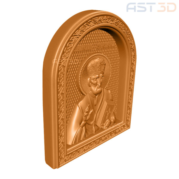 3D Модель Икона Святого Николая для ЧПУ станка скачать Одесса, Львов, Ровно, Херсон, Хмельницкий