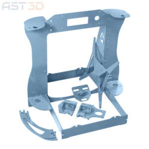 Рама 3D принтера Anet – корпус Steel PRO от AST3D (Анет а6/а8, светло синий цвет)