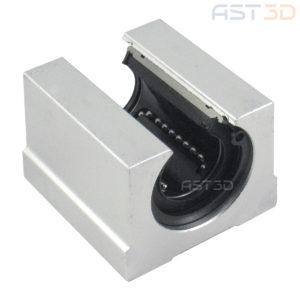 Линейный подшипник открытый SBR20UU 20мм (каретка, блок для вала на опоре)