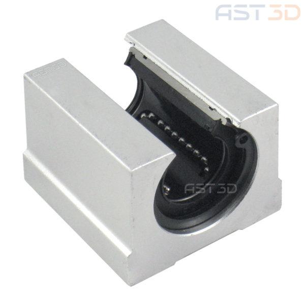 Линейный подшипник открытый SBR20UU 20мм (каретка, блок для вала на опоре) для 3D принтера, ЧПУ, лазерного гравера