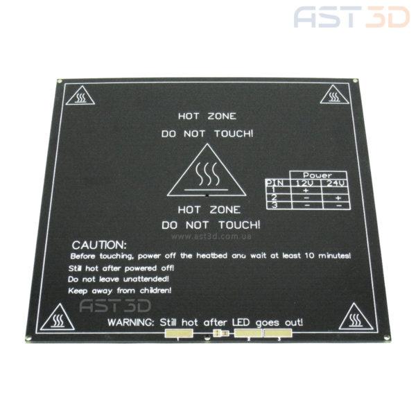 Нагревательный стол 3D принтера MK2B 214*214 мм 12/24 В (HeatBed черный)