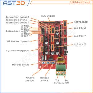 RAMPS 1.4 подключение - плата управления 3D принтером