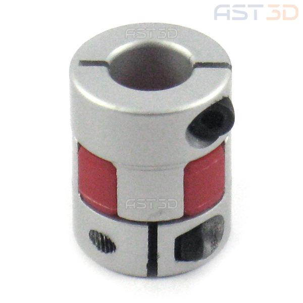 Кулачковая гибкая муфта для шагового двигателя 5/6,35/8/10/12 мм D20xL25 (гибкая муфта, прорезиненная)