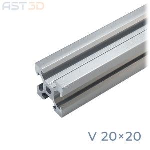 Профиль алюминиевый 20х20 V-слот (конструкционный, анодированный, станочный)