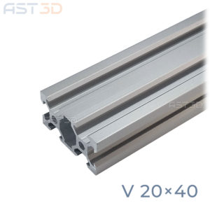 Профиль алюминиевый 20х40 V-слот (конструкционный, анодированный, станочный)