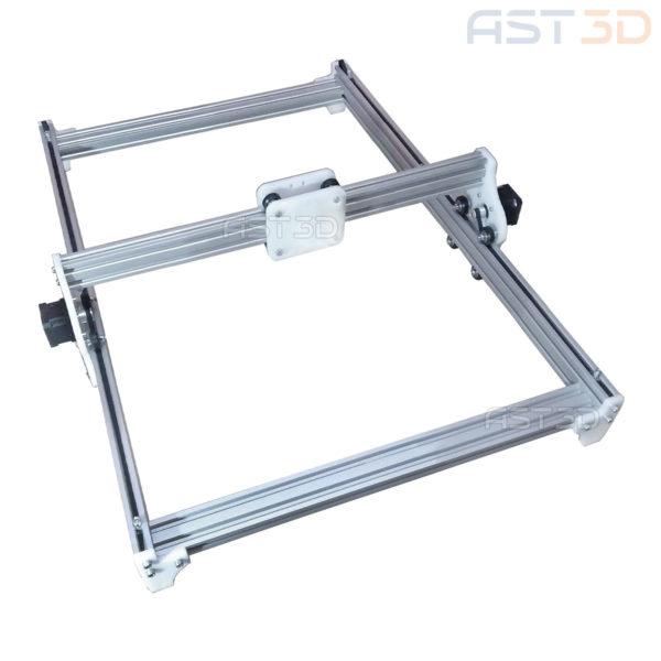 Корпус лазерного гравера - открытый алюминиевый (полный набор механики и ШД)