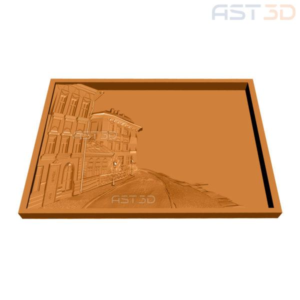 "3D Модель ""Набережная"" картина для ЧПУ станка"