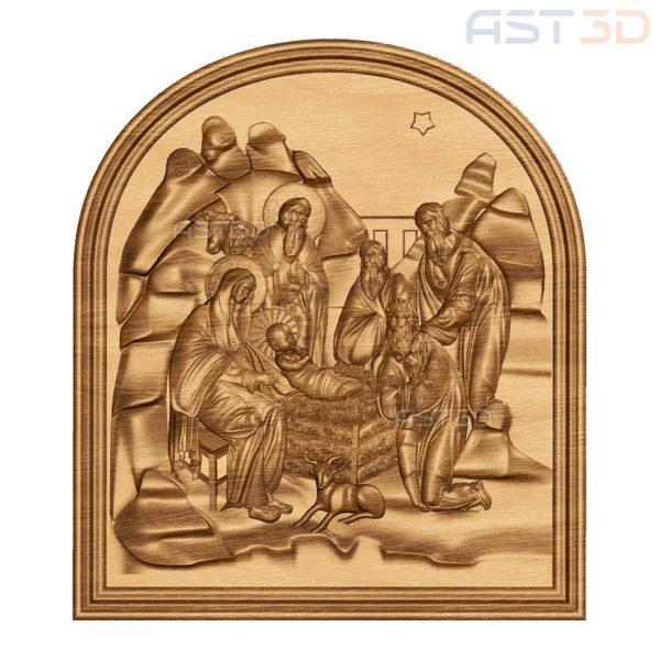 """3D Модель для ЧПУ """"Рождество Христово"""" (картина, панно, икона)"""