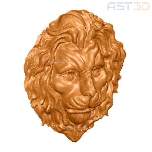 """3D Модель ЧПУ """"Голова льва"""" (животные, барельеф)"""