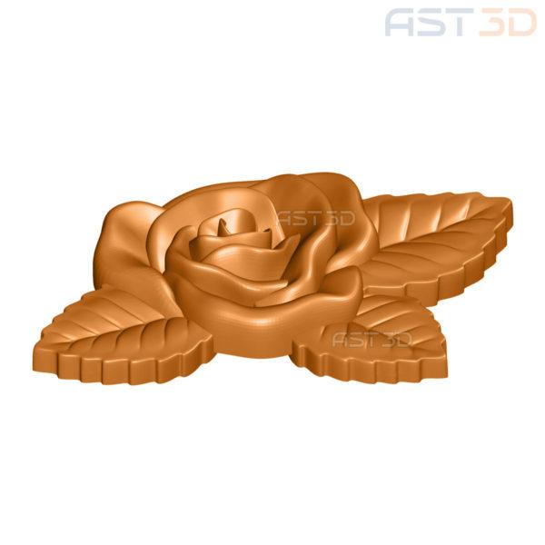"""3D Модель ЧПУ """"Роза"""" (растения, барельеф)"""