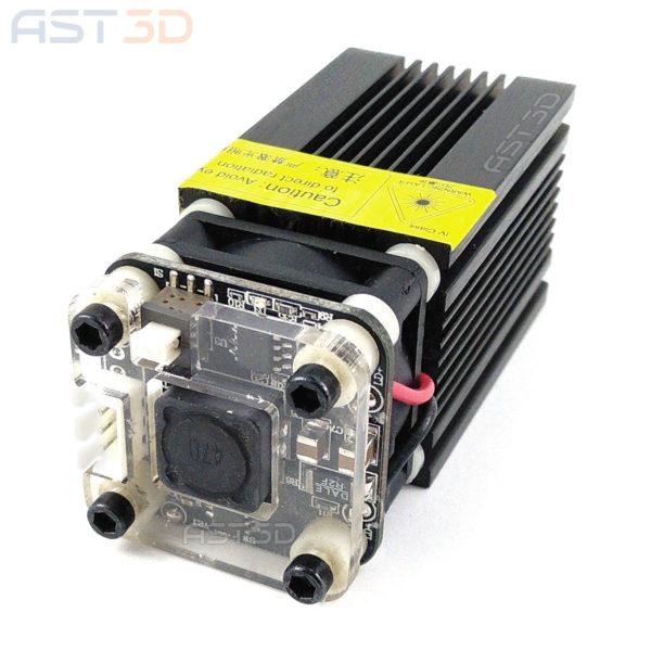 Лазерный модуль 2500 мВт - синий (диодный блок 2,5 Вт для гравера и чпу)