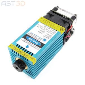 Лазерный модуль 5500 мВт с TTL – синий (диодный блок 5,5 Вт ШИМ для гравера и чпу)