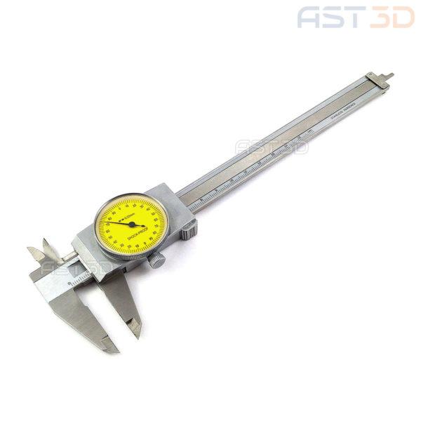 Штангенциркуль стрелочный 0,02 мм (стальной, 150мм, механический индикаторный)