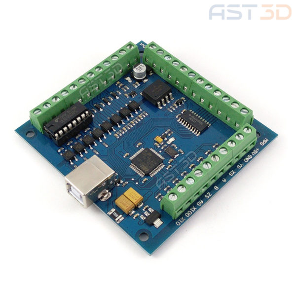 Контроллер ЧПУ 4 оси USB порт (синяя, плата управления MACH3)