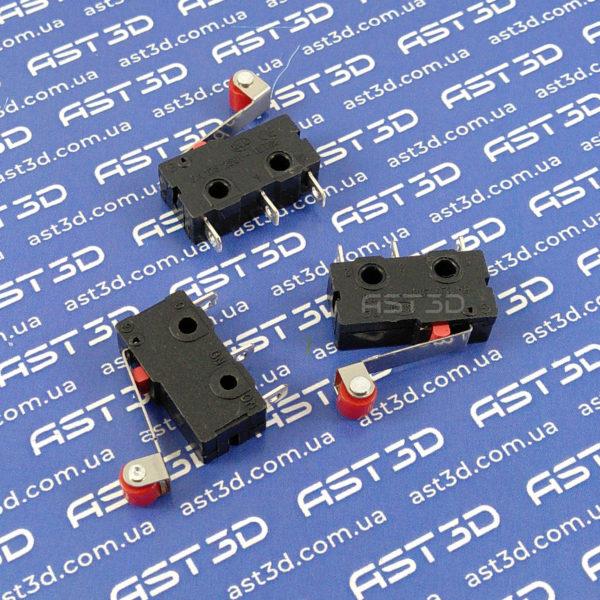 Концевик механический, концевой выключатель с роликом (мини, ЧПУ, 3D принтеры) - AST3D Украина, Запорожье