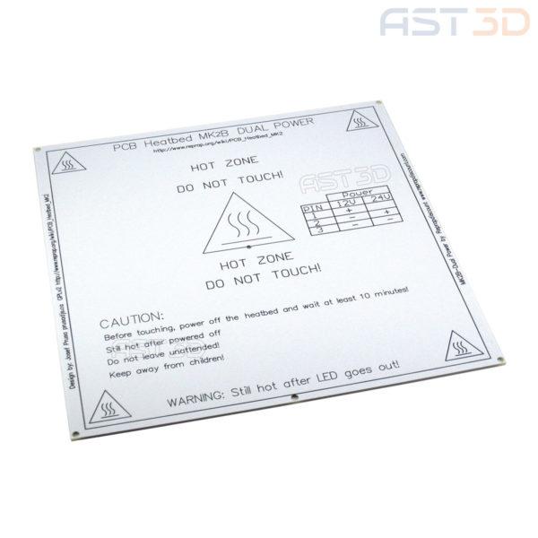 HeatBed MK2B белый 214*214 мм 12/24 В (Нагревательный стол 3D принтера красный, черный)
