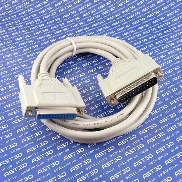 LPT кабель для ЧПУ - DB25 25pin папа-мама (1,5/3/5м, MACH3 контроллер-ПК) - AST3D Украина, Запорожье