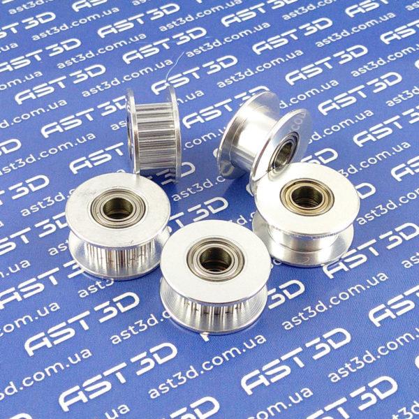 Ролик GT2 опорный, натяжителя ремня 6мм (3D принтер, лазерный гравер) - AST3D Украина, Запорожье